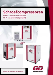 Gardner Denver compresssoren Voorblad ESM compressor 7-22 kW
